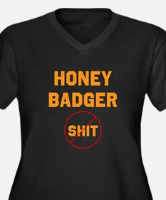 Honey Badger Don't Give a Shi Women's Plus Size V-