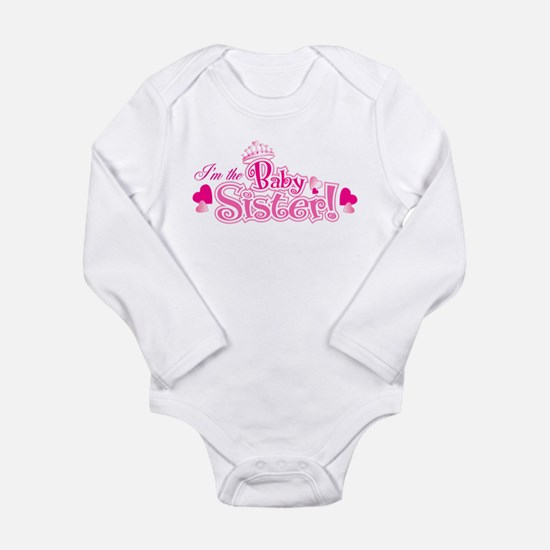 Cute Big sisters Long Sleeve Infant Bodysuit