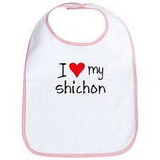 I LOVE MY Shichon Bib