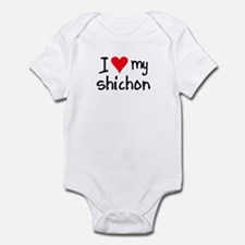 I LOVE MY Shichon Infant Bodysuit