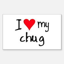 I LOVE MY Chug Decal