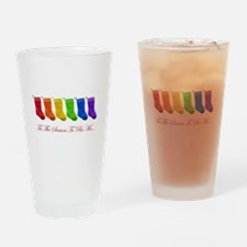 pride stockings Drinking Glass