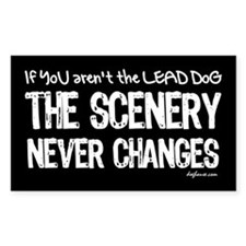 Lead Dog Rectangle Decal