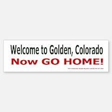Golden Welcome Bumper Bumper Bumper Sticker