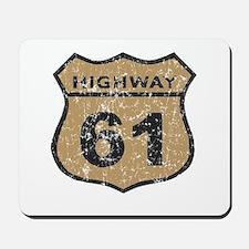 Retro Look Hwy 61 Road Sign Mousepad