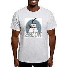 Primsical Snowman Ash Grey T-Shirt
