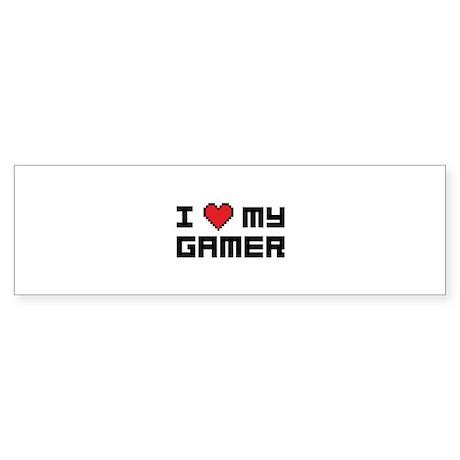 I Love My Gamer Sticker (Bumper)
