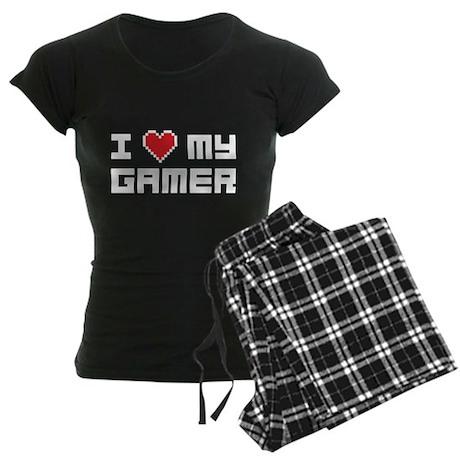 I Love My Gamer Women's Dark Pajamas