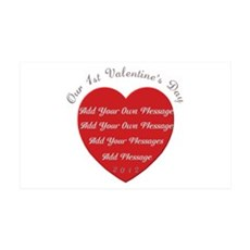 Our 1st Valentine's Day 38.5 x 24.5 Wall Peel
