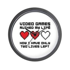 Video Games Wall Clock