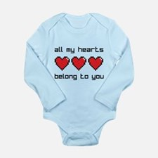 All My Hearts Long Sleeve Infant Bodysuit