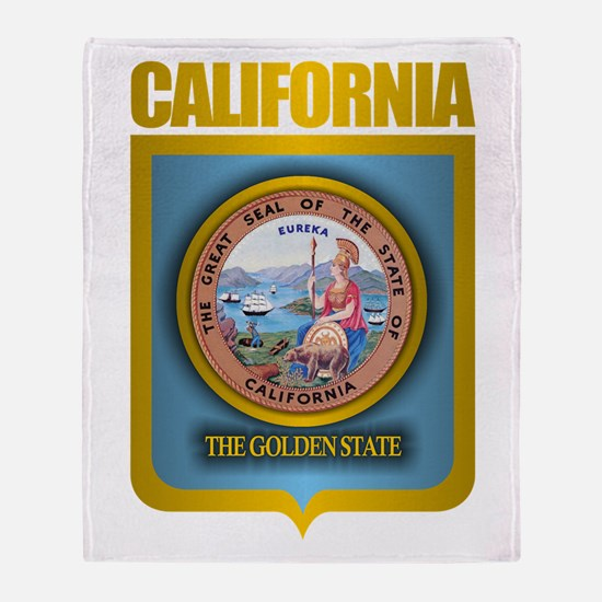 """California Gold"" Throw Blanket"
