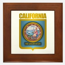 """California Gold"" Framed Tile"