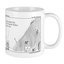 Manual review, haystack Mug