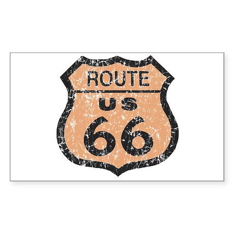 Retro Route 66 Road Sign Rectangle Sticker