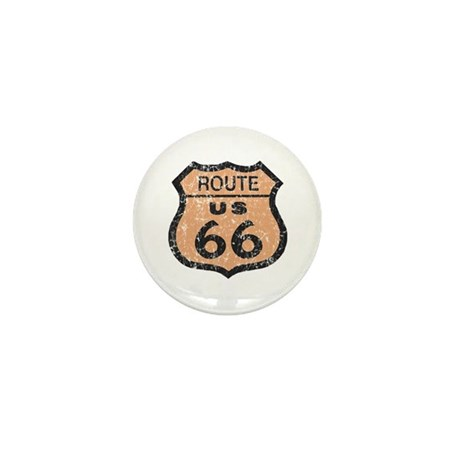 Retro Route 66 Road Sign Mini Button (100 pack)