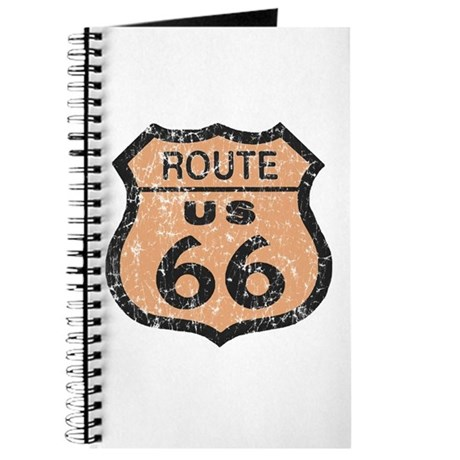 Retro Route 66 Road Sign Journal