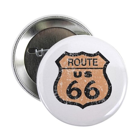 Retro Route 66 Road Sign Button