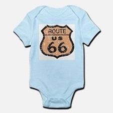Retro Route 66 Road Sign Infant Creeper