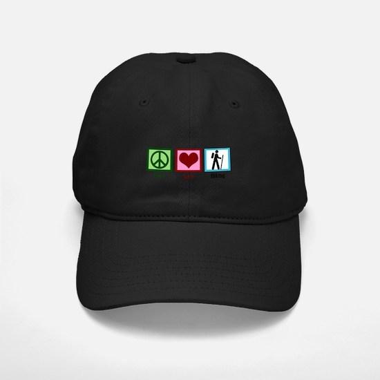 Peace Love Hiking Baseball Hat
