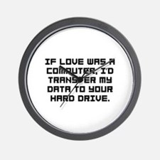 If love was a computer Wall Clock