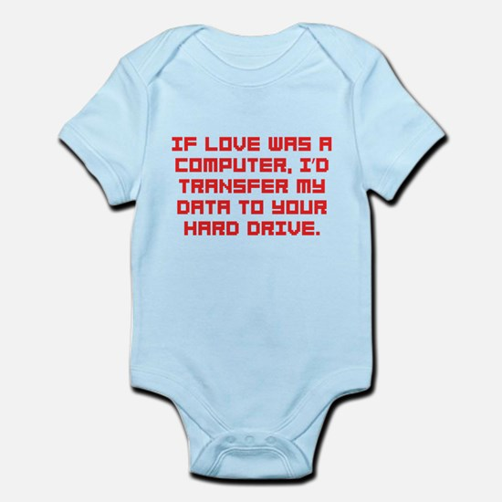 If love was a computer Infant Bodysuit