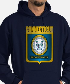 """Connecticut Gold"" Hoodie (dark)"