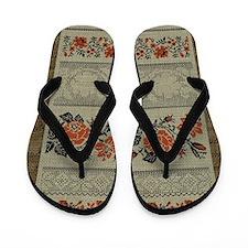 Traditional Ukrainian Embroid Flip Flops