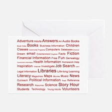 Red Tag Cloud Greeting Cards (Pk of 10)