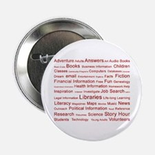 """Red Tag Cloud 2.25"""" Button"""