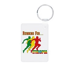 Ethiopia Running Aluminum Photo Keychain