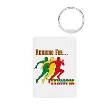 Ethiopia Running Aluminum Photo Keychain