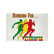 Ethiopia Running Rectangle Magnet