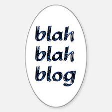 Blah Blah Blog Oval Decal