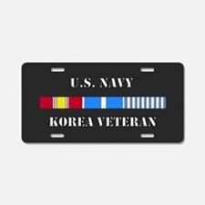 Navy Korea Vet Aluminum License Plate