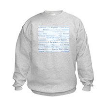 Blue Tag Cloud Sweatshirt