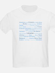 Blue Tag Cloud T-Shirt