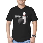 Let's Go Bowling Dude Men's Fitted T-Shirt (dark)
