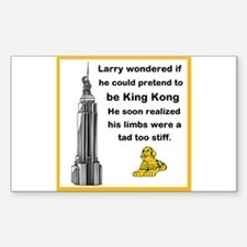 Larry and King Kong Sticker (Rectangle)