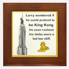Larry and King Kong Framed Tile