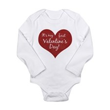 It's My First Valentine's Day Long Sleeve Infant B