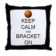 Keep Calm and Basketball Throw Pillow