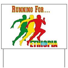Ethiopia Running Yard Sign