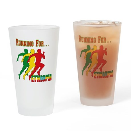 Ethiopia Running Drinking Glass