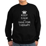 Keep Calm and Therapy Sweatshirt (dark)