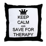 Keep Calm and Therapy Throw Pillow