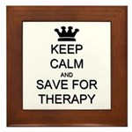 Keep Calm and Therapy Framed Tile