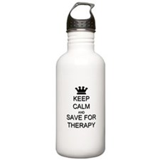 Keep Calm and Therapy Water Bottle