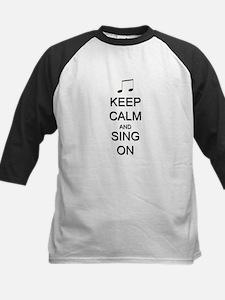 Keep Calm and Sing On Kids Baseball Jersey