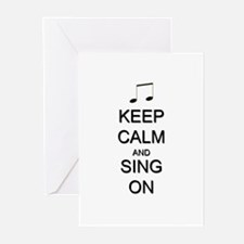 Keep Calm and Sing On Greeting Cards (Pk of 20)